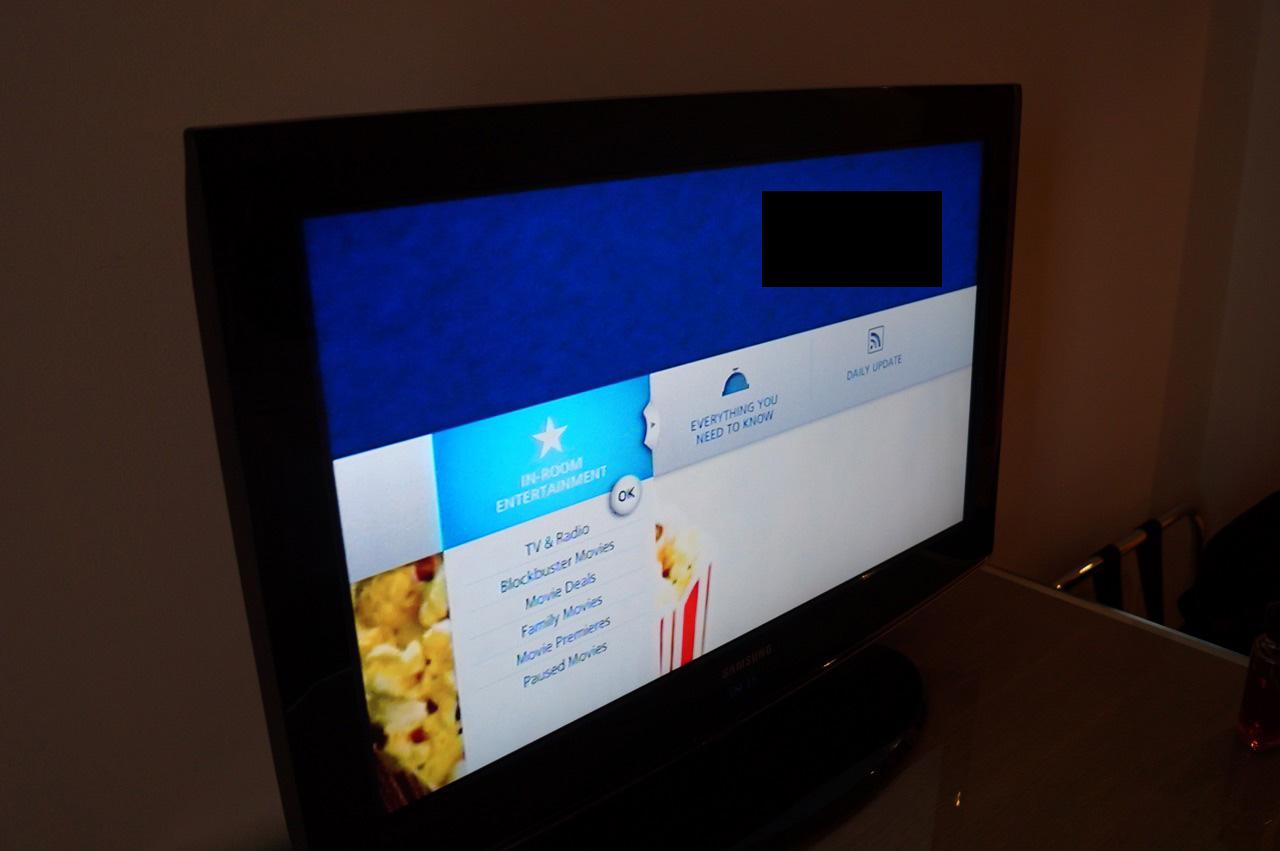 Hilton London Gatwick Airport Hotel Bedroom TV