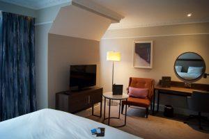 Hilton Edinburgh Carlton Bedroom Lounge Area