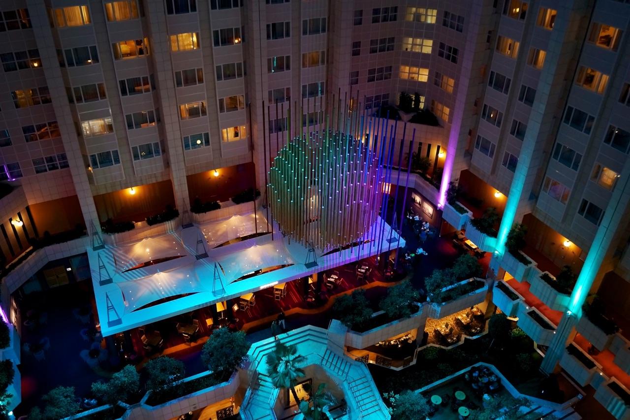 Hilton Prague Atrium Lighting