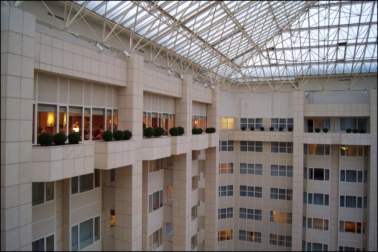 Hilton Prague Executive Lounge Atrium View