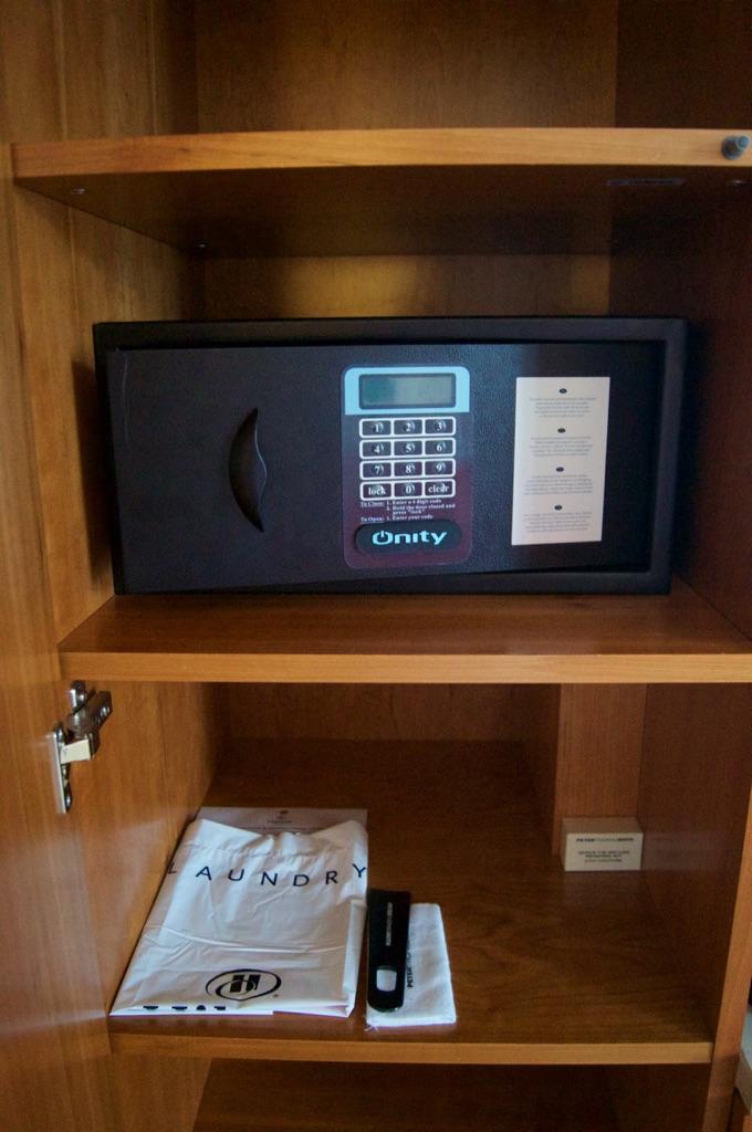 Hilton Prague Bedroom Safe