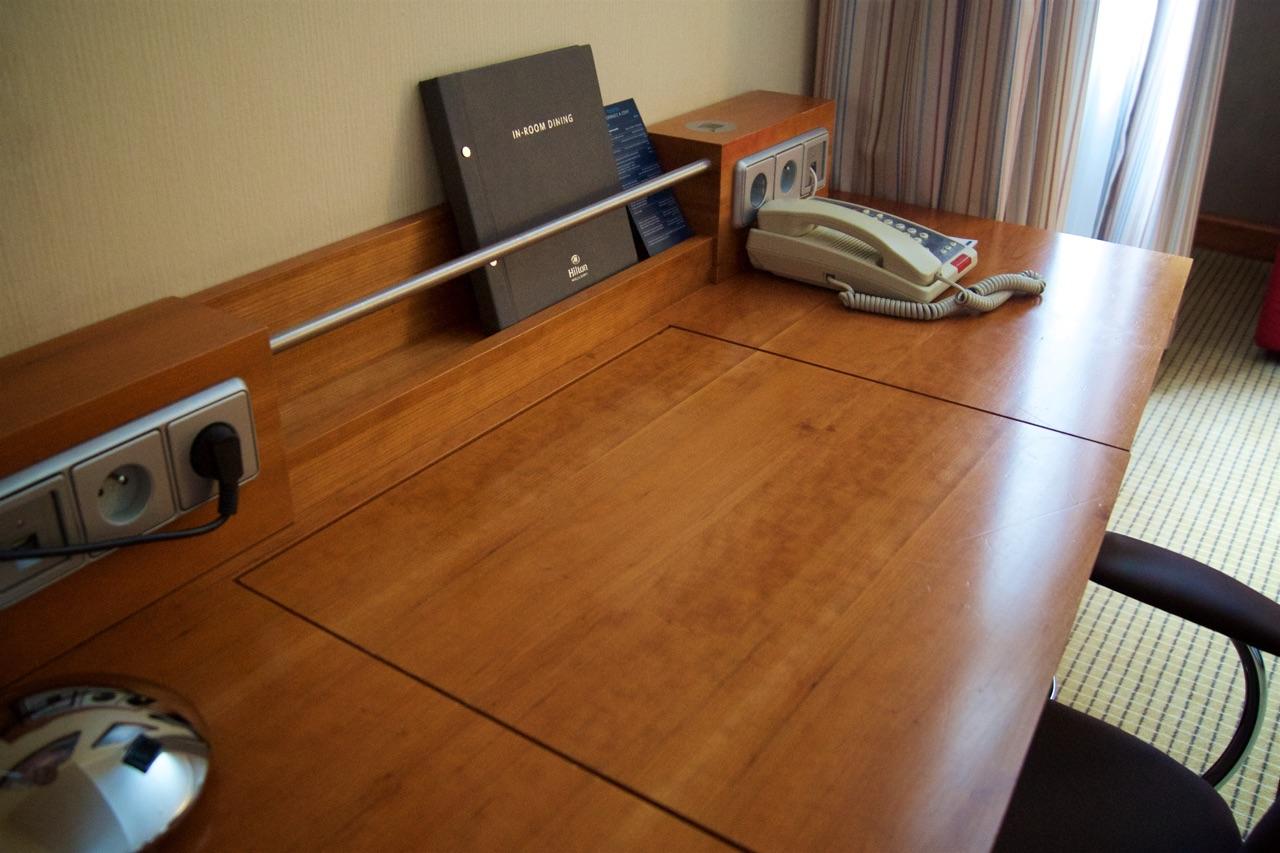 Hilton Prague Junior Suite Lounge Desk Area