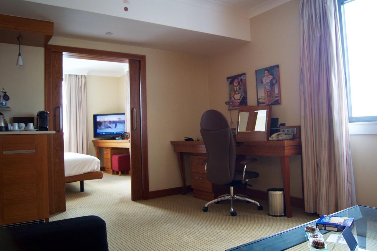 Hilton Prague Junior Suite Lounge Desk