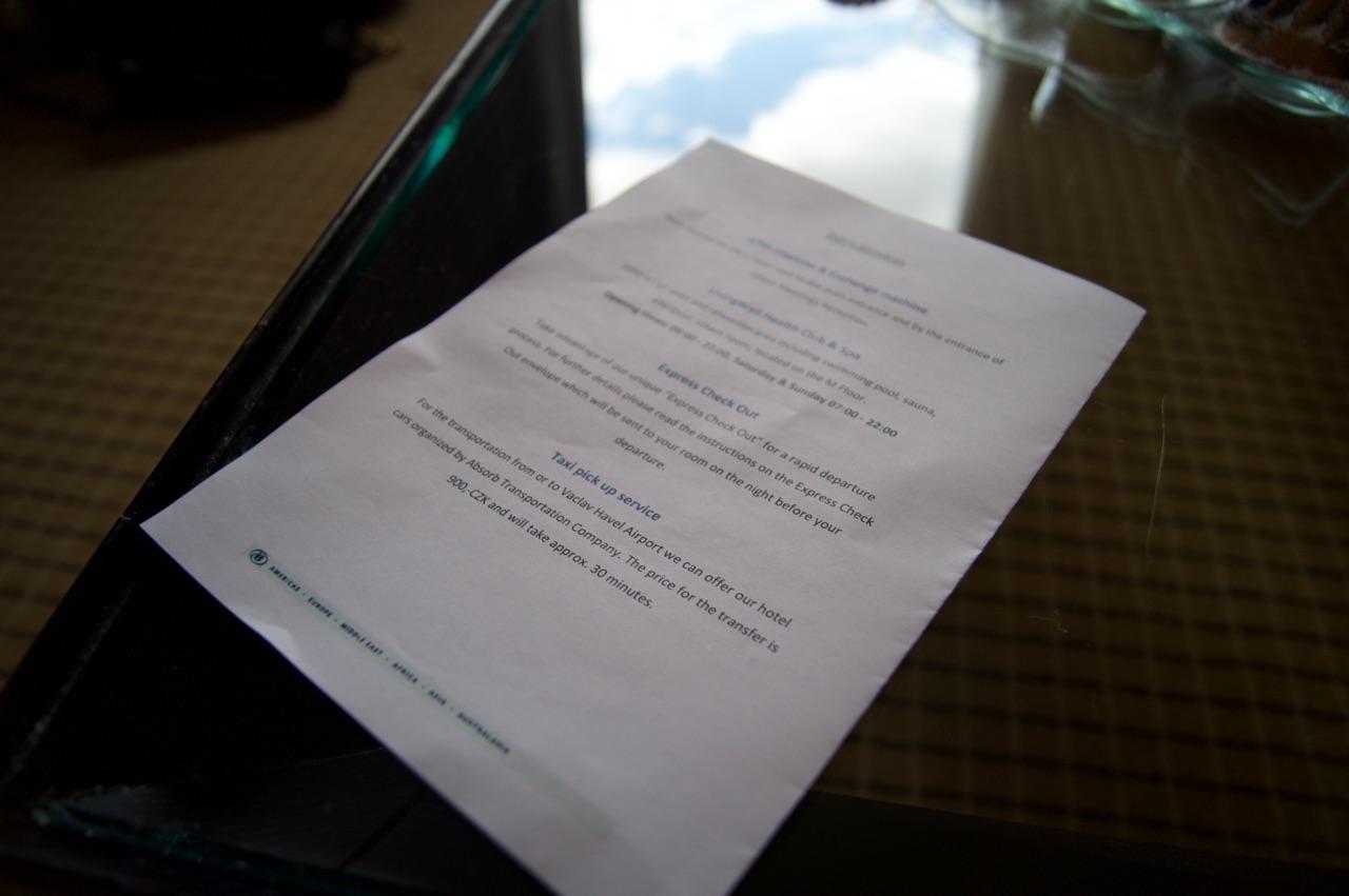 Hilton Prague Hotel Welome Guide